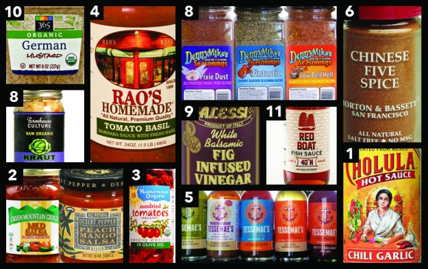 Top 11 Condiments