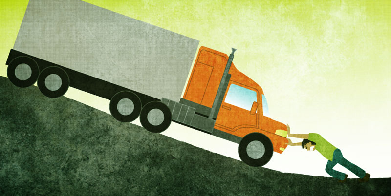 Think of your routines and habits as a truck on a roadtrip already moving in some direction.
