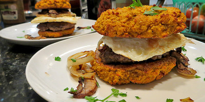 Squash Biscuit Breakfast Sandwich by Grassfed Farmacy