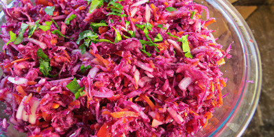 Paleo No Mayo Cole Slaw Low Fat - by Grassfed Farmacy @grassfedfarmacy