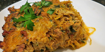 No Cheese Spaghetti Pizza Casserole by Grassfed Farmacy