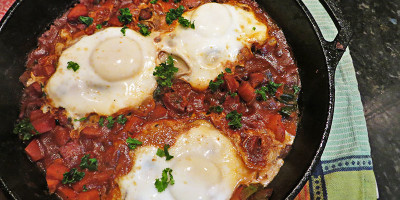 Shakshuka Breakfast Tomato Stew by Grassfed Farmacy @grassfedfarmacy